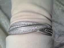 Judith Ripka Diamonique Texture Highway Cuff Bracelet J269763