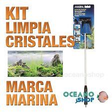 Kit Limpia Vidrio Marina - Kit  limpia cristal acuario pecera gambario