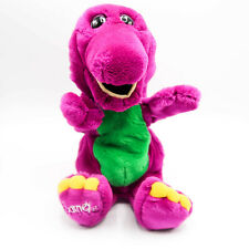 "Vintage Barney Full Body 14"" Hand Puppet Purple Dinosaur Plush Stuffed Animal"
