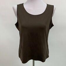 Elementz Women's Tank Top Large Brown Sleeveless