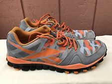Men's Reebok J99474 RealFlex Transition Athletic Shoe Gray Orange US 12 EUR 45.5