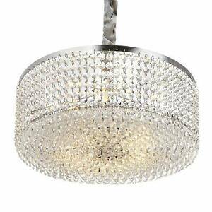 Luxurious Crystal Chandelier with Circle Shape Crystal Lighting Fixture Penda...