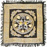 "NEW Earth Goddess Altar Cloth 18"" Rayon Fringed Pentagram Triple Moon Pagan"