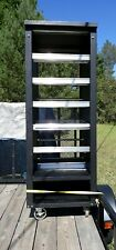 Wheeled large cart vulcan industrial bakery display case open dry with lights