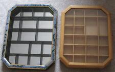 Holz-Setzkasten  2 Stück zum Aufhängen für Kleinfiguren/Teile in natur und blau