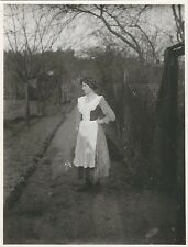 7/540   1 x FOTO JUNGE FRAU FEINE KLEIDUNG FALKENBERG 1910 DIENSTKLEIDUNG ?