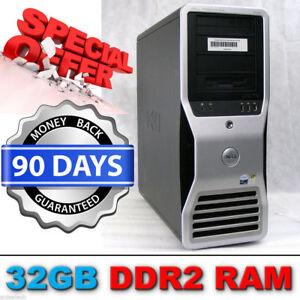 Dell Precision T7400 Workstation Xeon E5430 EightCore 2.66GHz 32GB NVIDIA FX4600