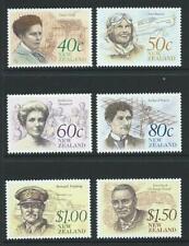 1990 NEW ZEALAND NZ Heritage - Famous New Zealanders Set MNH (SG 1548-1553)