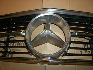 71-89 Mercedes Benz 107, 350 280 380 450 560 SL SLC front hood grill CHROME star