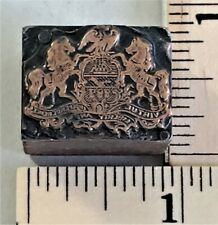 Vintage Copper Amp Wood Letterpress Print Block State Seal Of Pennsylvania Pb 31