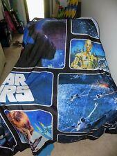"""Star Wars Classic Saga 72"""" x 72"""" Fabric Shower Curtain Euc"""