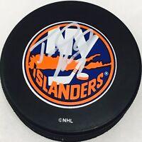 Trent Hunter Signed New York Islanders NHL Puck - COA - Los Angeles Kings - NHL