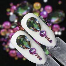 New Fashion Mixed Flame Rainbow Crystal Rhinestones 3D Nail Art Decoration Stone