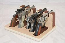 Pistol 5 Gun Rack Stand 501S Maple Brown Cabinet Safe