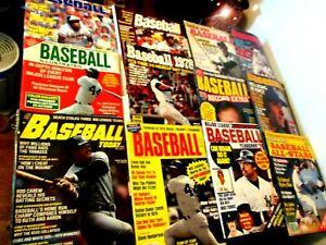 1978 Baseball Illustrated Magazine Lot of 12 Reggie Jackson Pete Rose