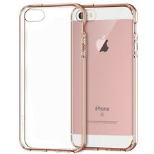 JETech SE 5S 5 Shock Absorption Bumper Clear Back For iPhone SE Case Rose Gold