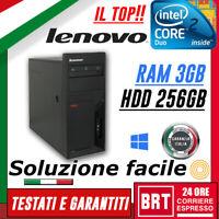 PC COMPUTER FISSO LENOVO M57 CPU CORE 2 DUO RAM 3GB 256GB HDD OTTIMO!!!+ WIN 10!
