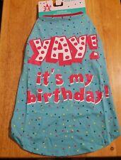 "New listing Dog Dazzlers Blue ""Yay! It'S My Birthday"" T-Shirt Puppy/Dog Medium~Chest 21-27in"