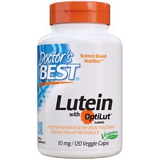Doctor's Best Lutein With Optilut 10 MG 120 Veggie Caps