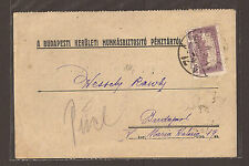 Hungary 1925 Postal Stationary (used) Receipt ?
