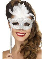 SMI - Mase Augenmaske Venezianisch Venedig Karneval Fasching silber