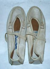 Vintage 1980s Dance There Famolare Leather Ballet Jazz Practice Split Sole Shoes