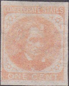 Confederate CSA #14 One Cent Stamp