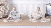 Prunkschale 2tlg. GALANTES PAAR ROKOKO Schale Porzellanschale Figuren Dekoschale