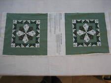 New Old Stock Wamsutta Green Calico Pillow Fabric Panel - Cut & Sew 42