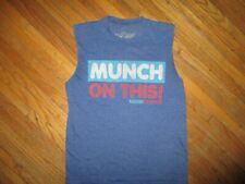 NESTLE CRUNCH MUNCH ON THIS! T SHIRT Chocolate Candy Bar Sleeveles Cut Sleeves S