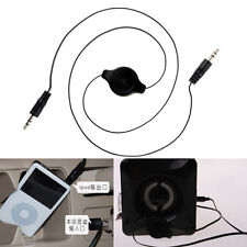 New 3.5mm Male to Car Aux Plug Retractable Stereo Audio Cable Cord For iPod MP3