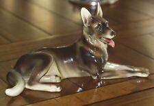 Large Vintage STEFFL FAYENCEN WIEN AUSTRIA German Shepherd Dog Figurine GREAT