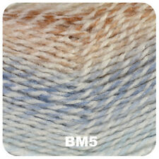 James C Brett Baby Marble Knitting Wool Yarn - Pastel Blue and Brown (100g) Bm5
