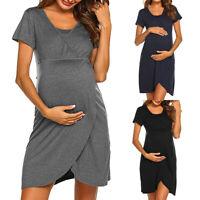 Pregnant Women Summer Shorts Mini Dress Maternity Nursing Casual Party Dresses