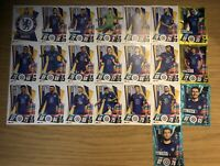 MATCH ATTAX 2020/21 FULL TEAM SET OF ALL 22 CHELSEA CARDS INC FOILS