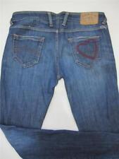 ARMANI Womens JEANS Sz 33 Dark Blue Stretch Denim Pants Low Rise Ladies