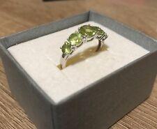 5 Peridot Sterling Silver.925 Dress Ring