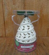 Yankee Candle Christmas Tree Tea Light Holder & 4 Candles Balsam & Cedar
