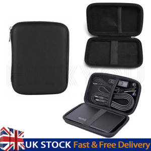 Portable Hard Drive Case Carrying Bag Holder Shockproof EVA Cover Pouch Bags UK