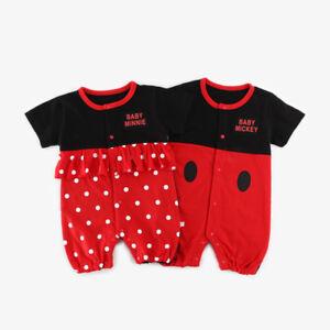 BABY BOYS GIRLS NEWBORN BABY MICKEY / MINNIE ROMPER BABYGROWS TODDLER BODYSUIT