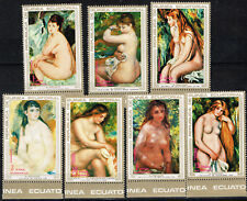 Equatorial Guinea Art Renoir Famous Nude Paintings set 1970 MNH