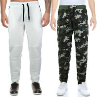 LR Men's Athletic Casual Elastic Drawstring Gym Sport Jogger Sweat Pants