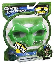 GREEN LANTERN MASK & POWER RING LITES UP 2011 *NU*