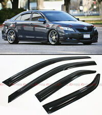 WAVY 3D STYLE SMOKED WINDOW VISOR VENT SHADE FOR 2007-2011 TOYOTA CAMRY LE SE