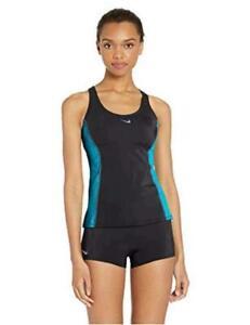 Nike Swim Women's Color Surge Powerback Tankini, Oracle Aqua, Size X-Large hEDz