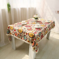 Table Cover Bohemian National Wind Table Cloth Cotton Linen Lace Table Cloths