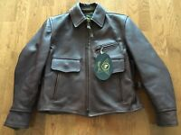 Alexander Simmons Bilt Drifter Leather Jacket Coat XS Small 34 Bomber Horsehide