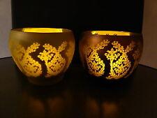 Elambia Flammenlose Kerzen in Glaswindlichtern, 4 tlg. Set