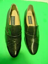Men,s Giorgio Brutini #244611Leather slip on shoes Black size 7 EEE