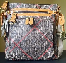 NWT Giani Bernini Block Signature Vertical Crossbody Handbag Plaid 5 MSRP $120
